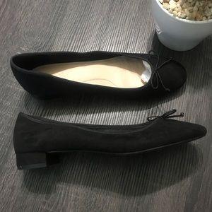 Zara TRF Black Suede Round Toe Loafer 37